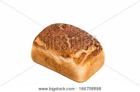 Italian Artisan White Bread on a White Background