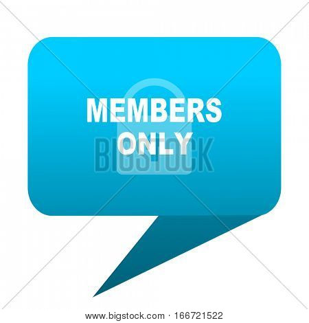 members only blue bubble icon