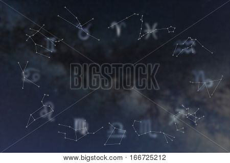 Zodiac Constellations. Zodiac Signs. Signs Of Zodiac. Galaxy Background