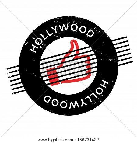 Hollywood rubber stamp. Grunge design with dust scratches. Effects can be easily removed for a clean, crisp look. Color is easily changed.