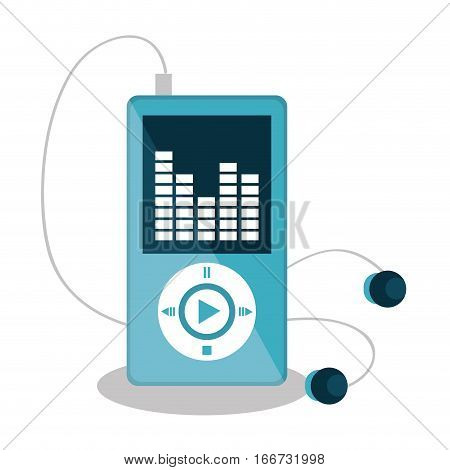mp3 player music icon vector illustration design