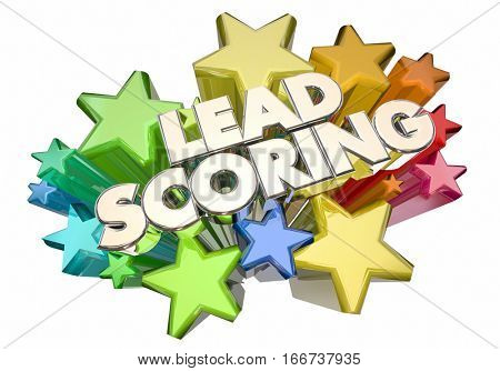 Lead Scoring Customer Prospects Top Best Score Stars 3d Illustration
