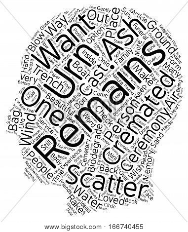 How to Scatter Cremated Remains Ashes text background wordcloud concept