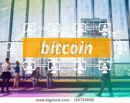 Bitcoin a cryptographically secured chain Digital money concept
