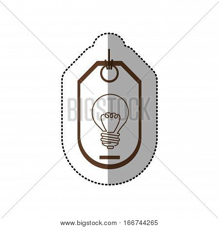 sticker price tag of light bulb with resistance vector illustration