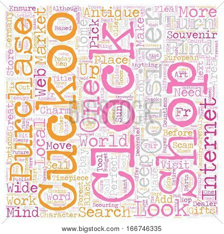 How To Shop For A Cuckoo Clock text background wordcloud concept