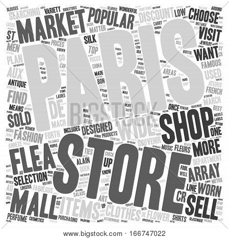 How to Shop in Paris text background wordcloud concept