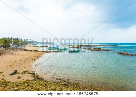 Jaffna Point Pedro Fishing Boats Coast Ocean H
