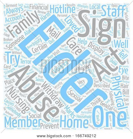 How To Spot Elder Abuse text background wordcloud concept