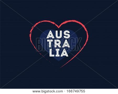 Happy Australia Day. Vector typography, text design. Usable for banners, greeting cards, gifts etc. 26th of January.