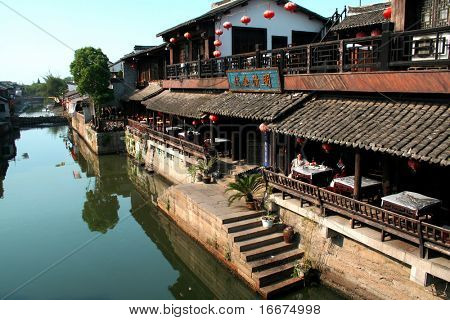 chinese build by river