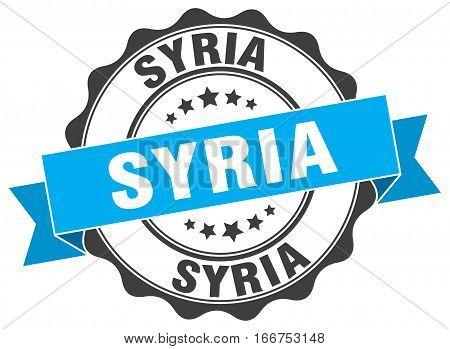 Syria. round isolated grunge vintage retro stamp