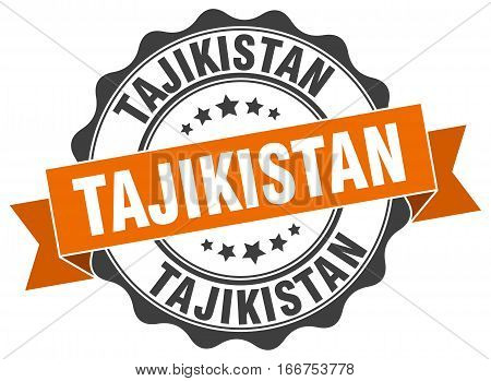 Tajikistan. round isolated grunge vintage retro stamp