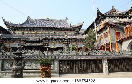 SHENZHEN, CHINA - MARCH 28, 2016: Dapeng Dongshan Temple on March 28, 2016 in Shenzhen, China. It is a landmark religious site in Shenzhen.