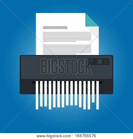paper shredder icon document business office information protection vector