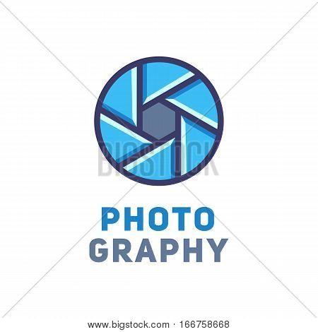 Logotype for the studio or photographer. Vector illustration.