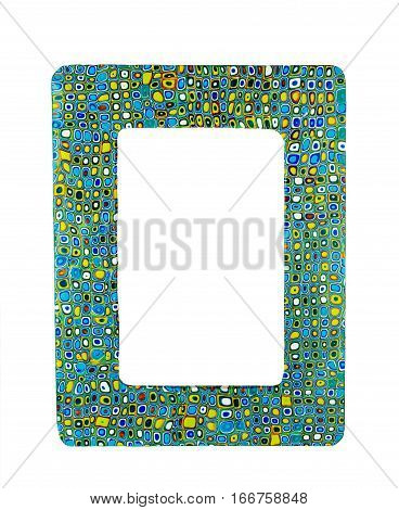 Photo frame made from polymer clay handmade crafted abstract