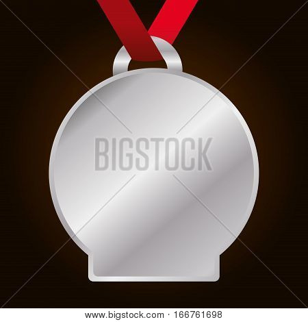 blank silver medal icon image vector illustration design