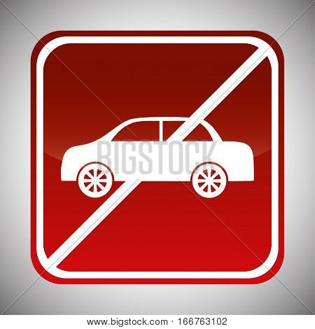 cars forbidden icon image vector illustration design