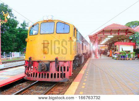 Hua hin public railway station of thailand ,Landmark of Hua hin -thailand