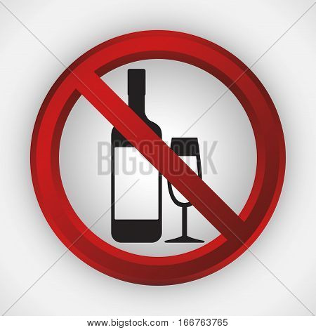 alcoholic beverages forbidden icon image vector illustration design