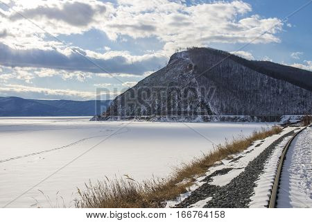 Beautiful View Of Frozen Baikal