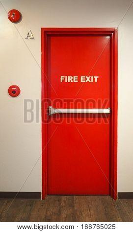 Emergency Fire Exit Door.