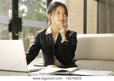 business women workin with laptop
