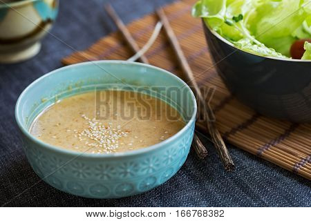 Homemade Japanese style Roasted Sesame salad dressing