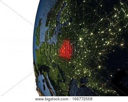 Sunset Over Belarus From Space