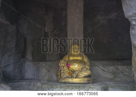 Buddha Statue In One Of The Temples Of Thailand.