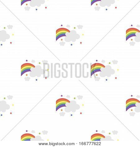 Rainbow icon cartoon. pattern gay icon from the big minority, homosexual cartoon. - stock vector