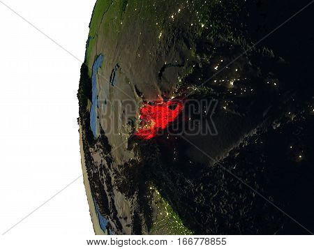 Sunset Over Kyrgyzstan From Space