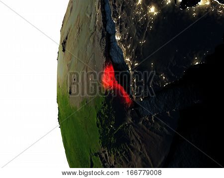Sunset Over Eritrea From Space