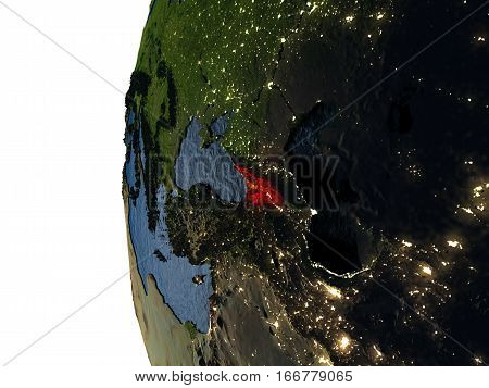 Sunset Over Georgia From Space