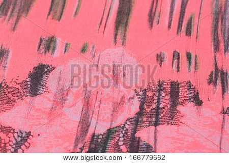 Colorful fabric for background close up image.