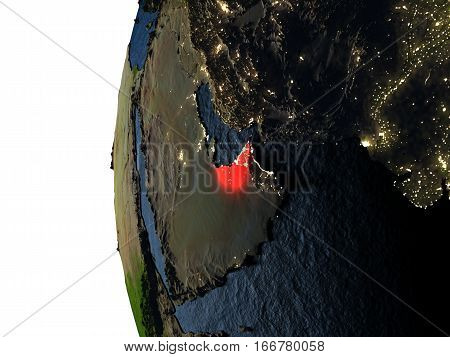 Sunset Over United Arab Emirates From Space