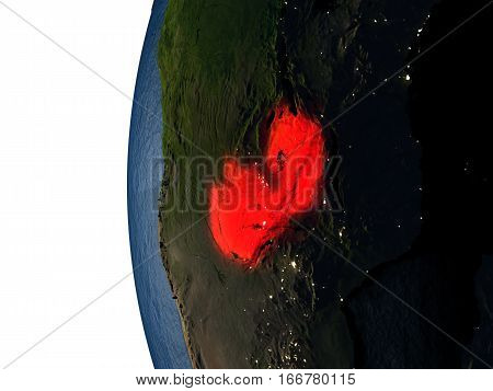 Sunset Over Zambia From Space