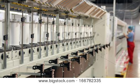 Automated Yarn Production in Modern Textile Plant