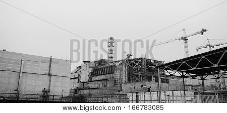 Fourth Block Of The Chernobyl Nuclear Power Plant In 30 Years After The Explosion At The Nuclear Pow