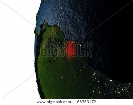 Sunset Over Suriname From Space