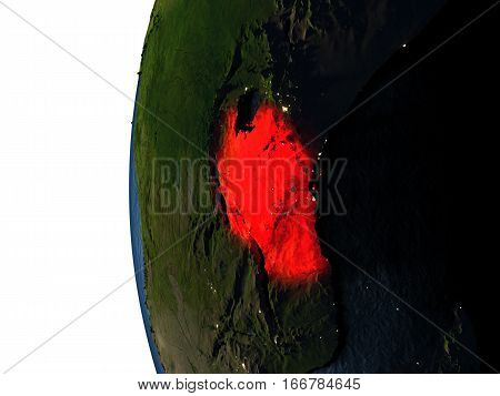 Sunset Over Tanzania From Space