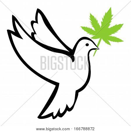 Weed for Peace. Marijuana use induces peaceful behavior and relieves stress symptoms