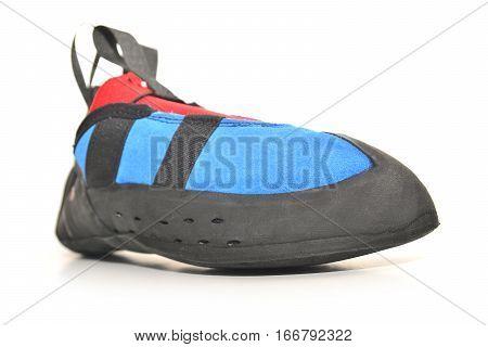 rock climbing shoe isolated on white background