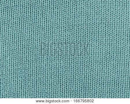 Cyan Color Knitting Texture.