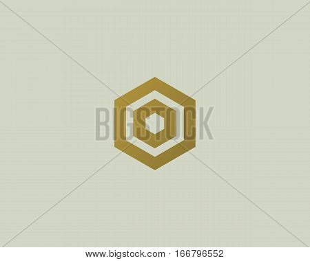 Abstract letter O vector logotype. Line hexagon creative simple logo design template. Universal geometric symbol font icon