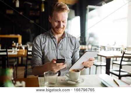 Workaholic Businessman On Break