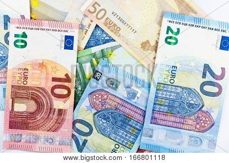 Multiple Europe Euro Currency as background texture