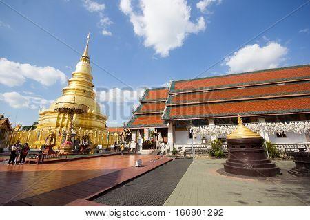 Phra That Hariphunchai, Main Temple In Lamphun Province