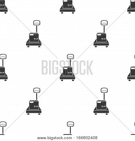 Libra icon in black style isolated on white background. Logistic pattern vector illustration.